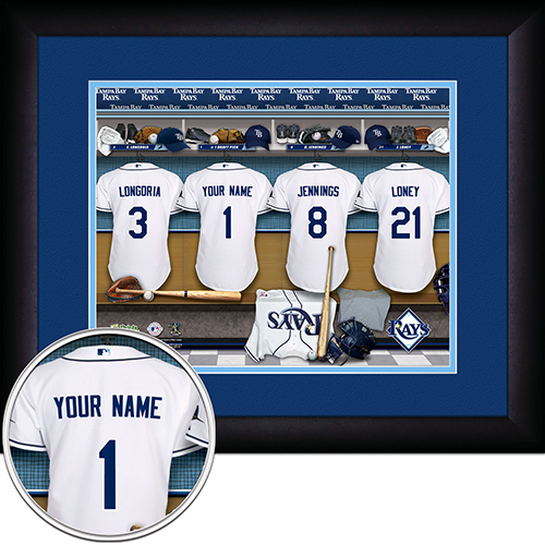 Personalized Tampa Bay Rays MLB Personalized Locker Sign