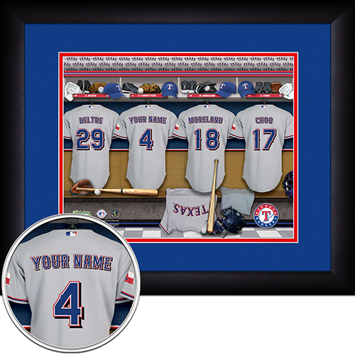 Personalized Texas Rangers MLB Locker Room Sign - Personalized Gifts for Men - GUYVILLE