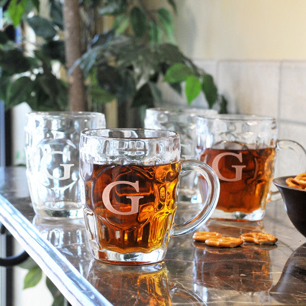 Traditional Beer Tankards (Set of 4) - Personalized Gifts for Men - GUYVILLE