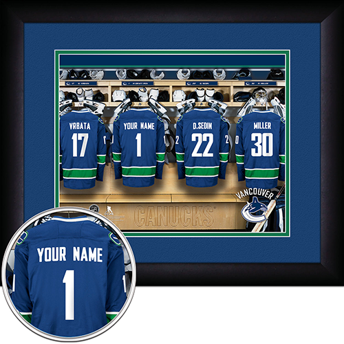NHL Vancouver Canucks Locker Room Sign with Personalization - Personalized Gifts for Men - GUYVILLE