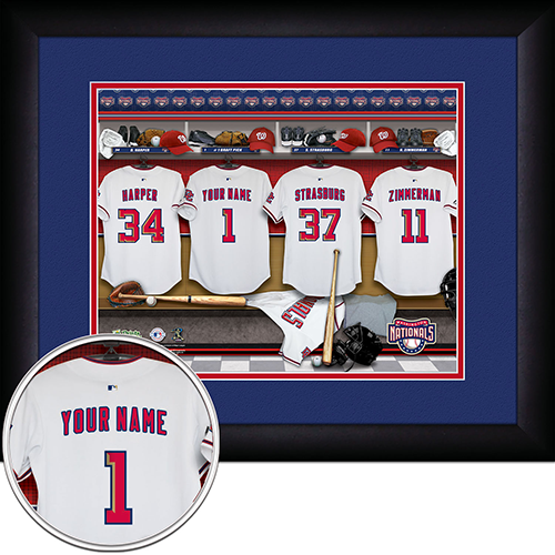 Personalized Washington Nationals MLB Locker Room Sign - Personalized Gifts for Men - GUYVILLE