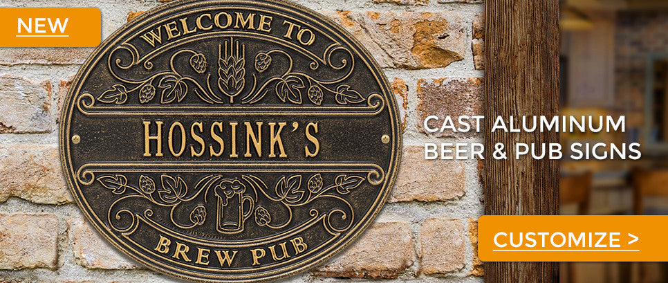 Cast Aluminum Beer & Pub Signs