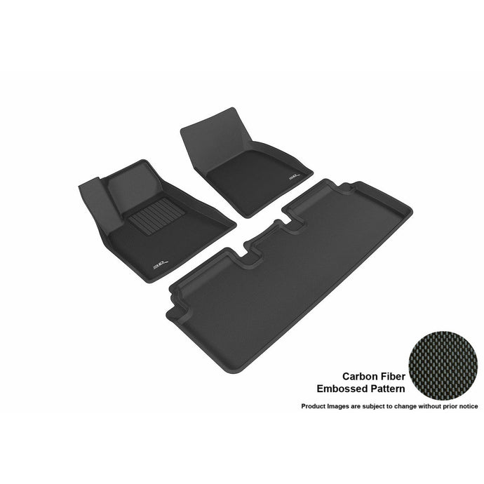 Carbon Fiber Model S All-weather Interior Set