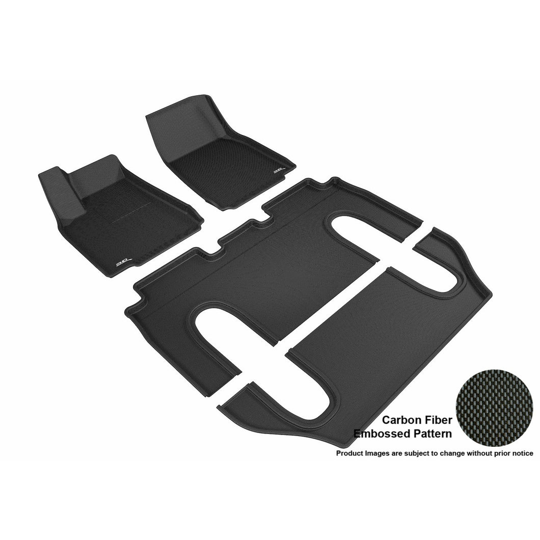 Carbon Fiber Model X All-weather Interior Set