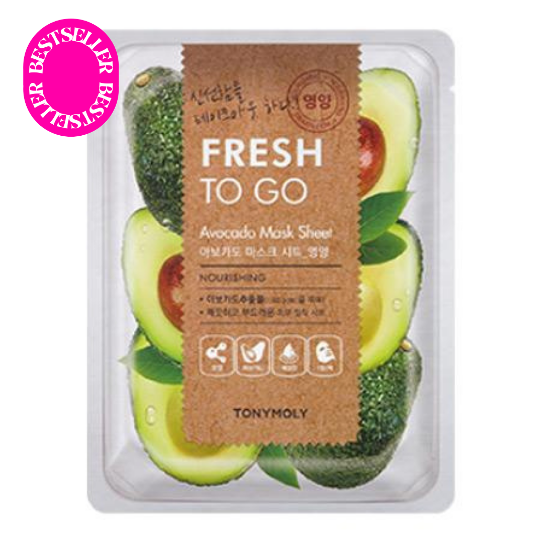 Tony Moly Fresh To Go Mask Sheet (Avocado) 22g - Milk & Nectar | Australian Kbeauty Store (4840804024398)