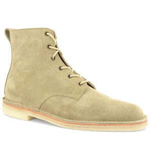 Stitchdown Desert Hi Top Boot Sand Suede Made in England