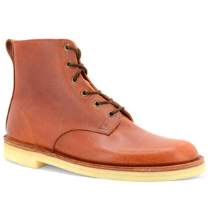 Desert Hi Top Boots Rust Made in England