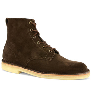 Desert Hi Top Boots Brown Suede Made in England
