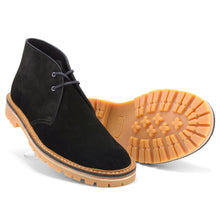 Load image into Gallery viewer, Desert Boot Black Vibram - Made in England - JADD Shoes
