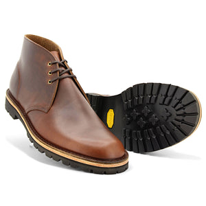 Horween Desert Boots, Brown, Vibram - Made in England by JADD Shoes