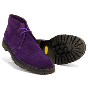 Purple Suede Vibram Desert Boots - Made in England - JADD Shoes