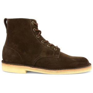 Desert Hi Top Boot Brown Suede Made in England