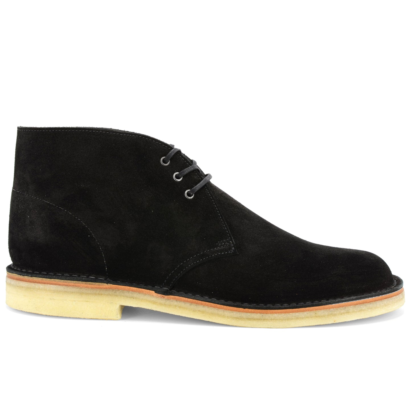 Desert Boot Black Suede Made in England