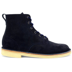 Desert Hi Top Boot Navy Suede Made in England