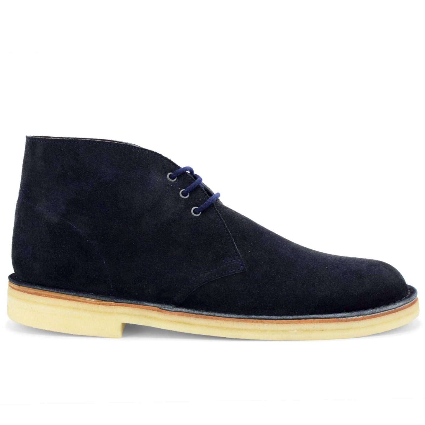 Desert Boot Navy Suede Made in England