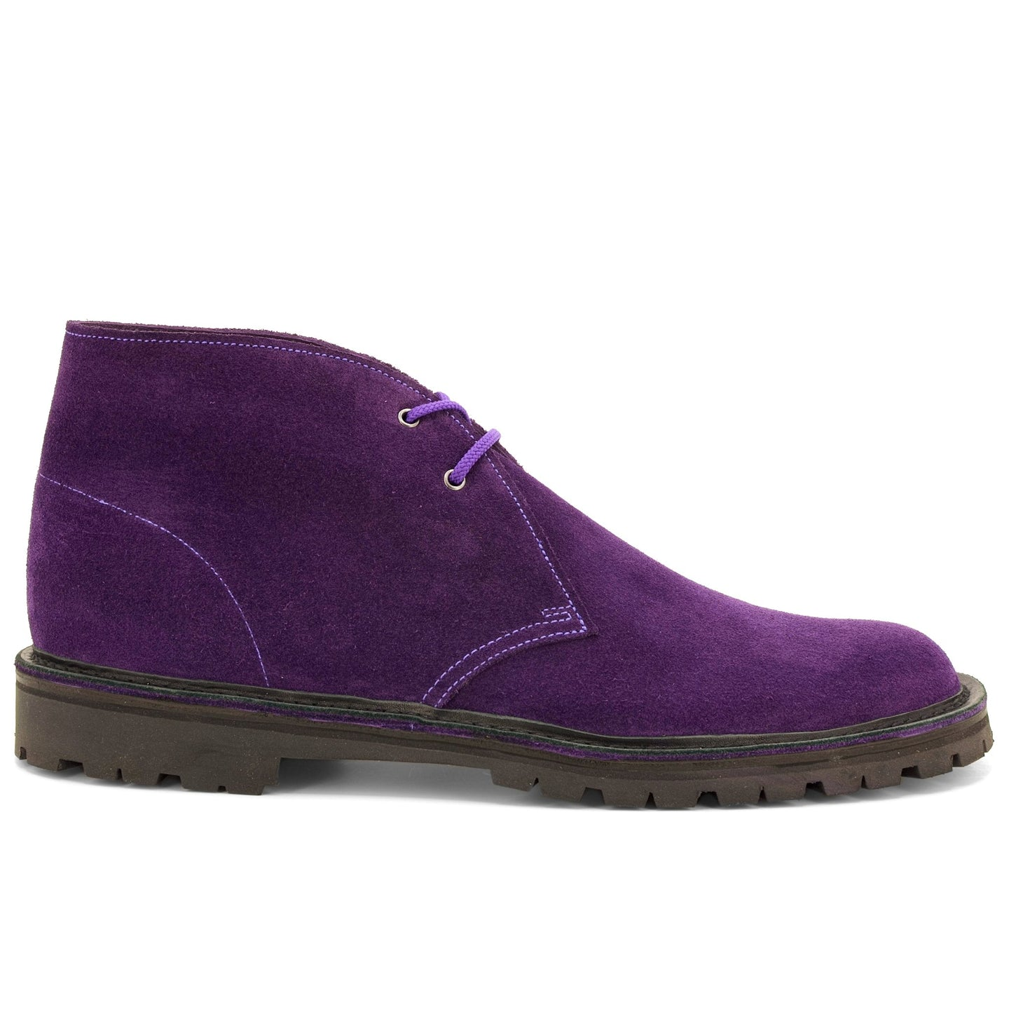 Purple Suede Desert Boots - Made in England - JADD Shoes