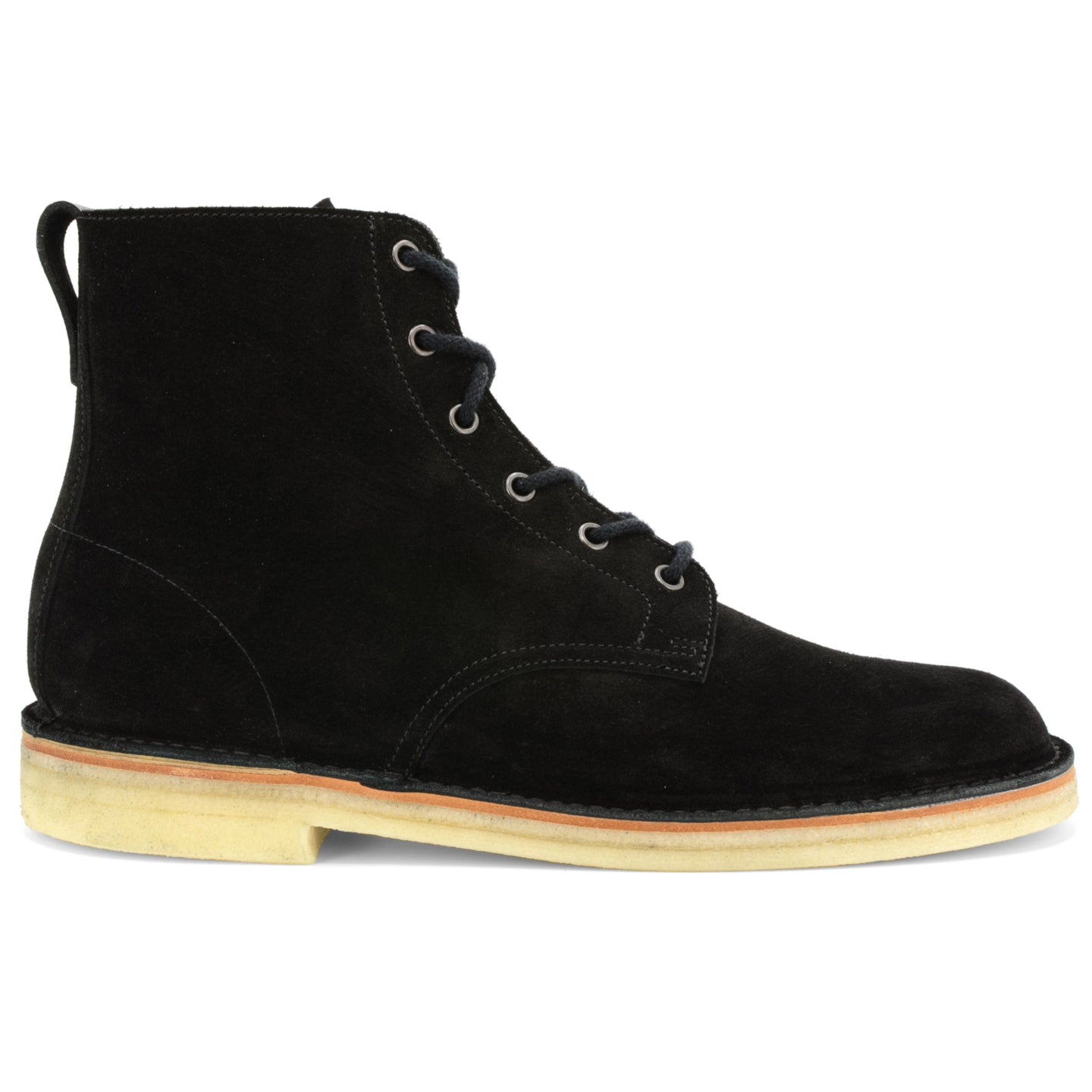 Desert Hi Top Boot Black Suede Made in England