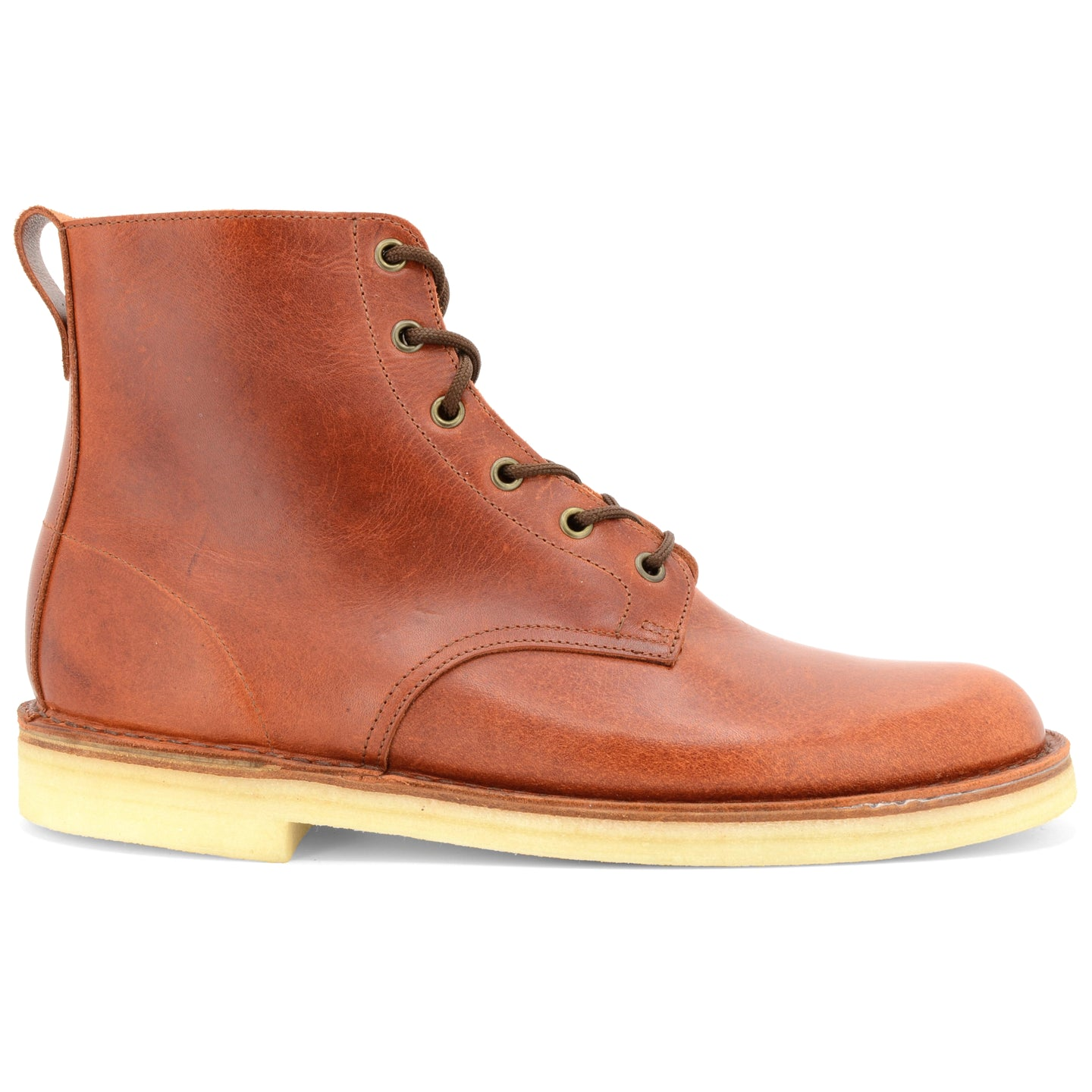 Desert Hi Top Boot Rust Made in England