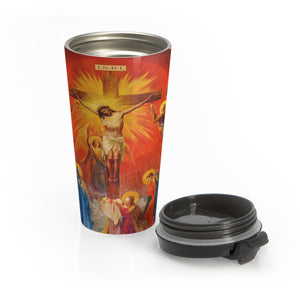 Catholic Mural Stainless Steel Travel Mug