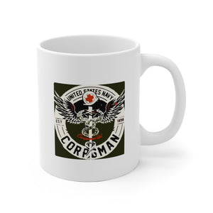 Navy Corpsman White Ceramic Mug
