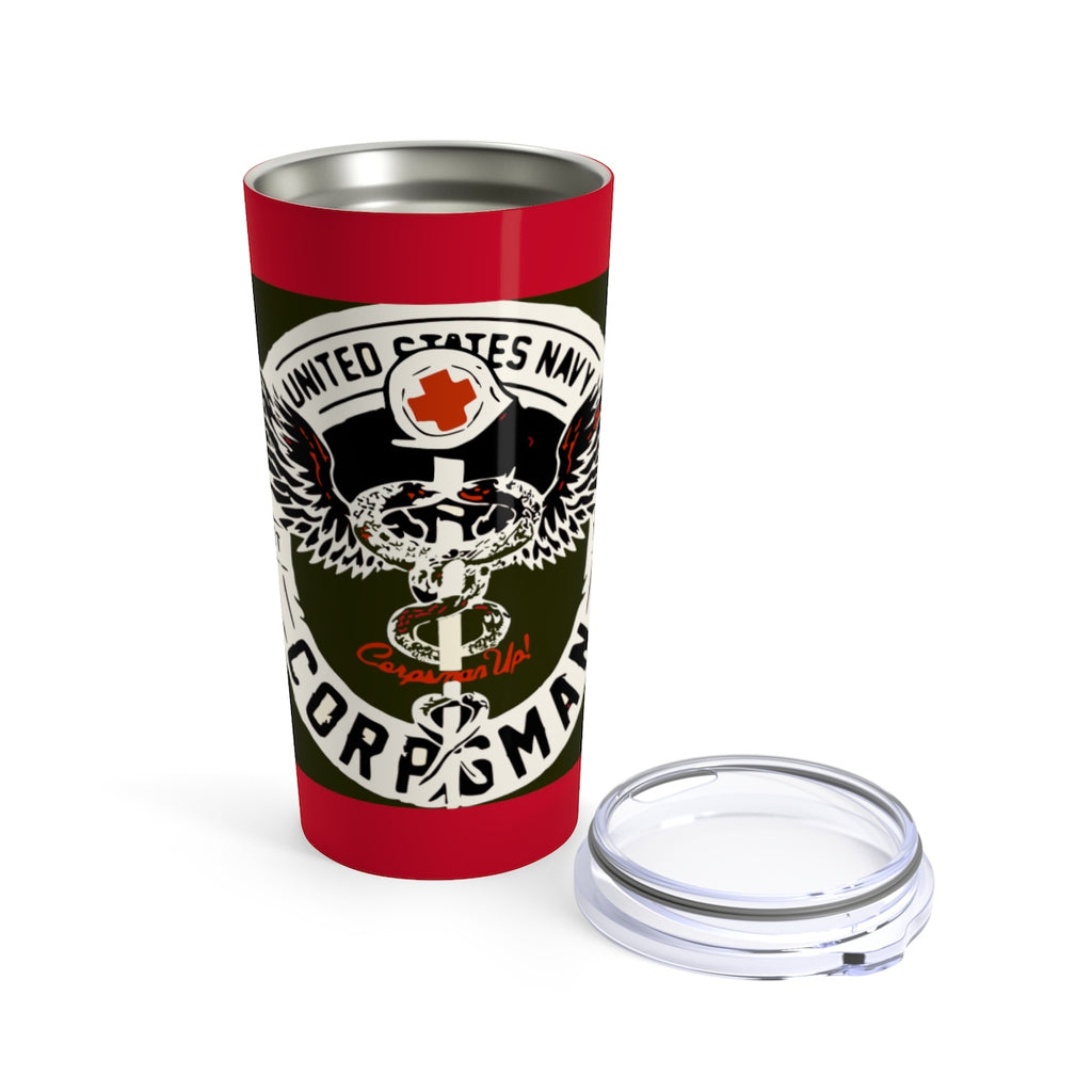 Navy Corpsman Blood Red Tumbler 20oz
