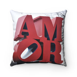 Amor/Ave of the Arts Philly Spun Polyester Square Pillow