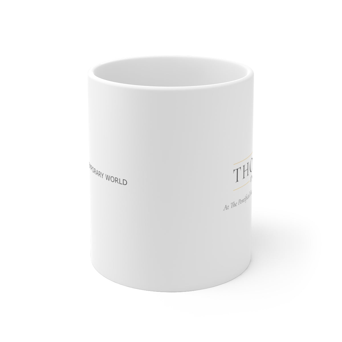 Thomistic White Ceramic Mug