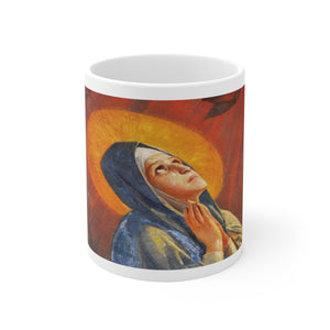 Mary White Ceramic Mug