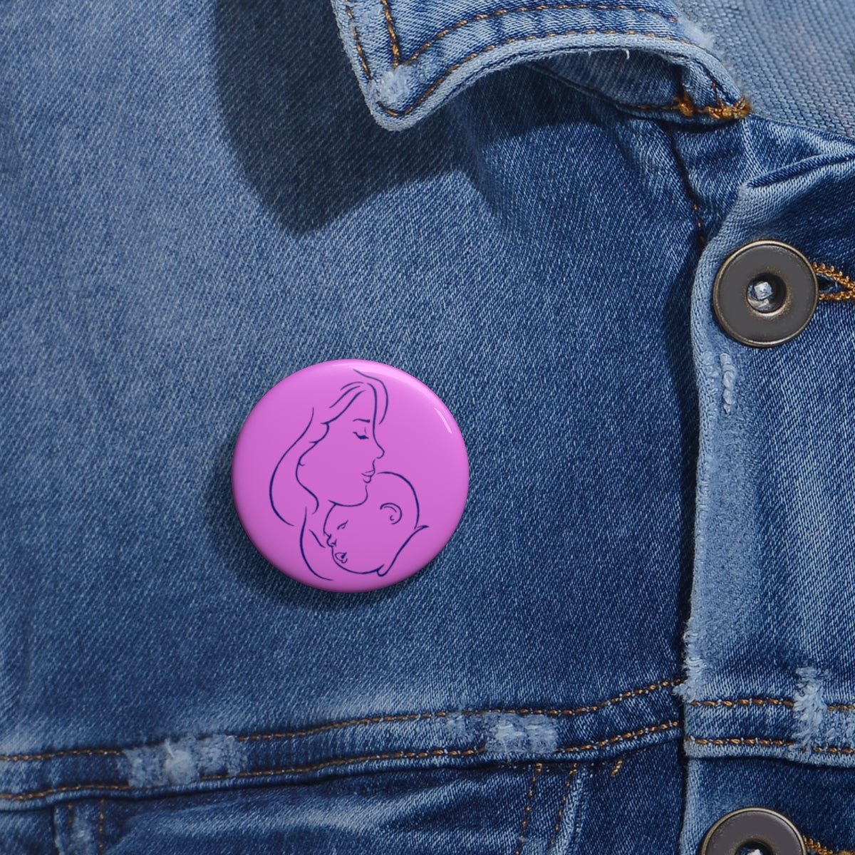 Pro-Life Pink Pin Buttons