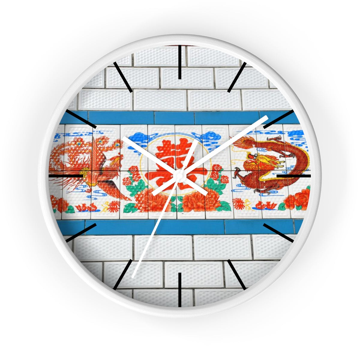 Chinese Double Happiness Wall clock
