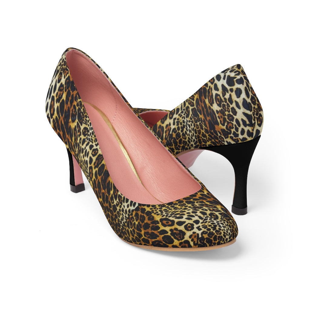Leopard Print Women's High Heels