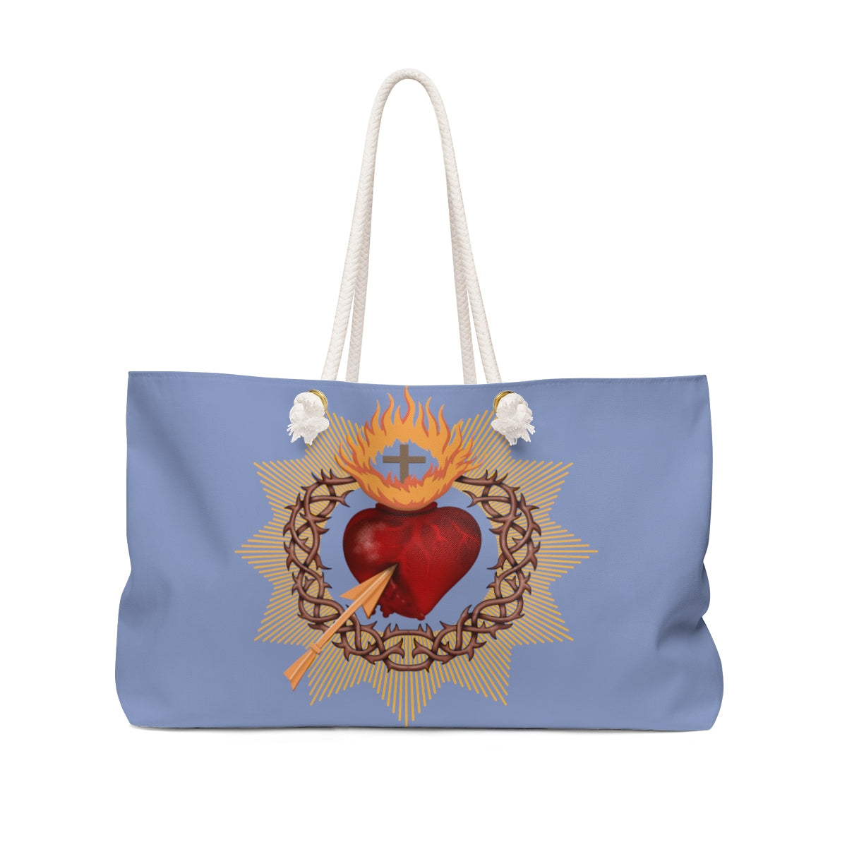 Sacred Heart Weekender Bag (blue)