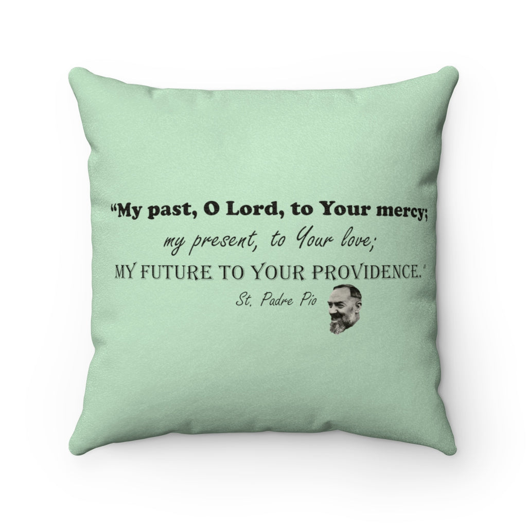 Padre Pio Faux Suede Square Pillow