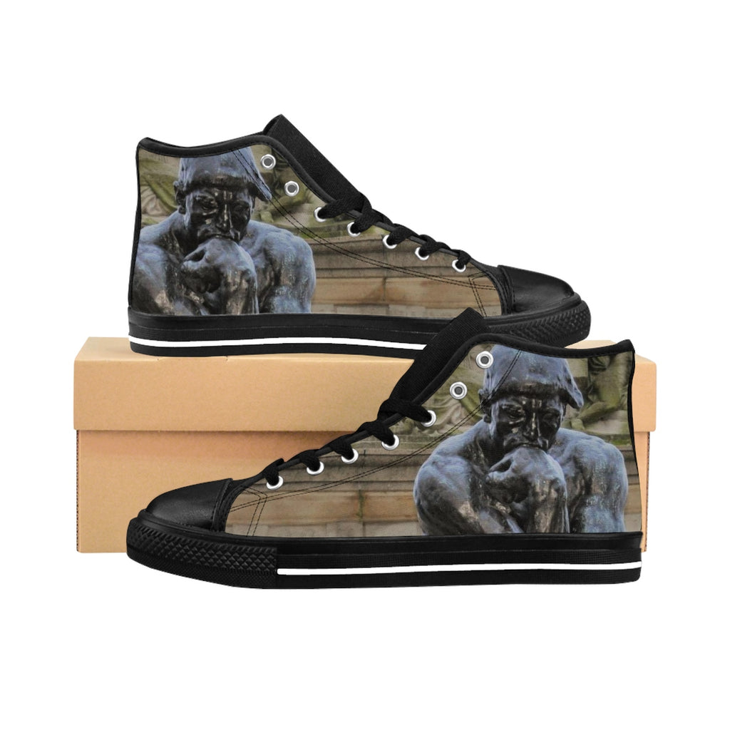 The Thinker Men's High-top Sneakers (order up one size, run small)