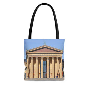 Philly Museum AOP Tote Bag