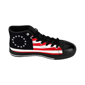 Betsy Ross Men's High-top Sneakers (Runs 1 size small, order 1 size larger)