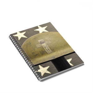 Army Helmet Vintage Spiral Notebook - Ruled Line