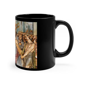 Stations of the Cross Black mug 11oz