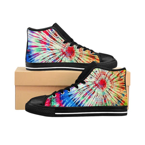 Tie-dye Men's High-top Sneakers (order one size larger)