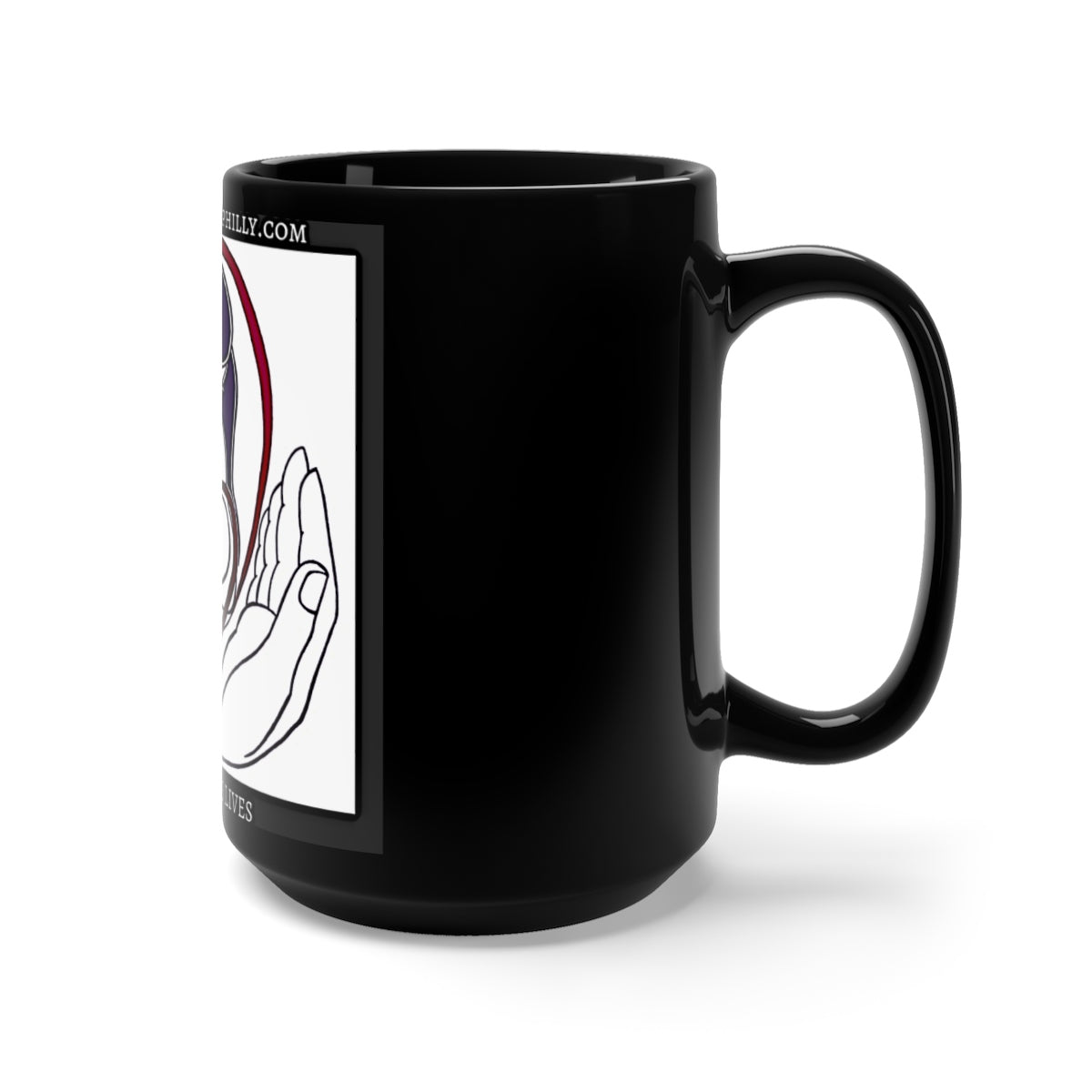 Sidewalk Servants Black Mug 15oz