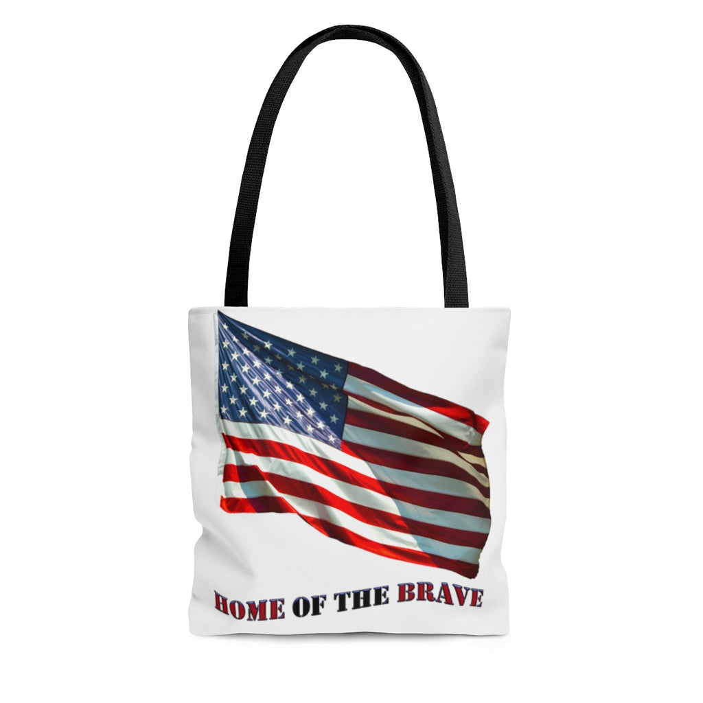 Home of the Brave AOP Tote Bag