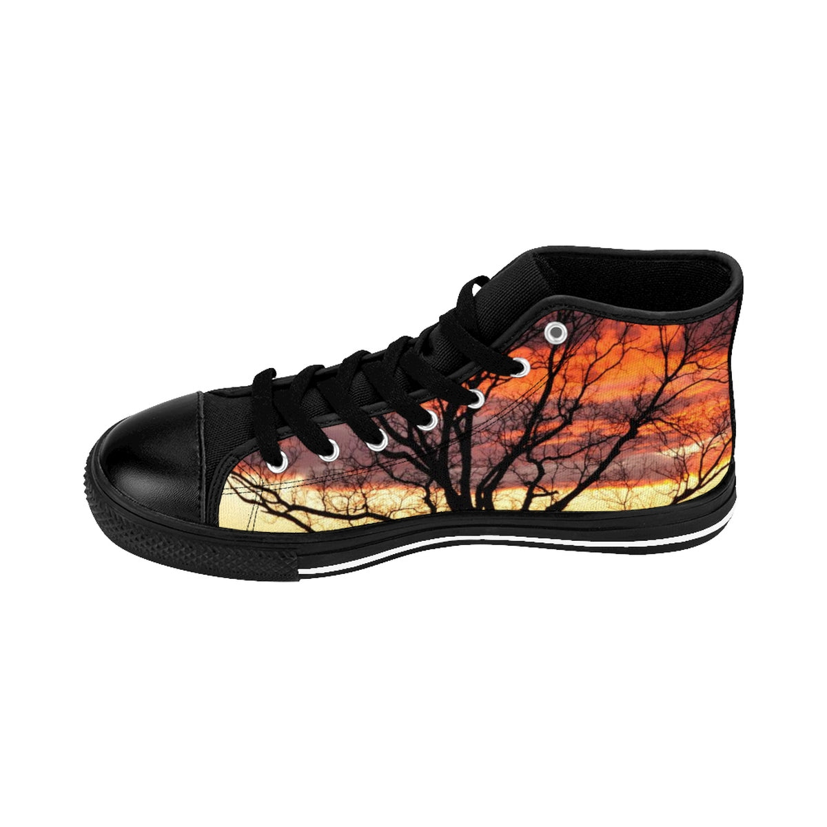 Sunrise Tree Men's High-top Sneakers (order one size larger than needed)