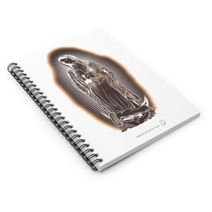Our Lady Tan Spiral Notebook - Ruled Line