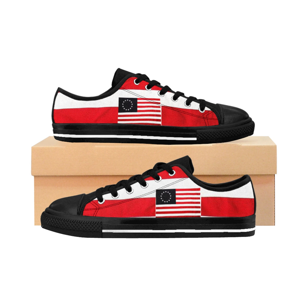 Betsy Ross Low Top Women's Sneakers