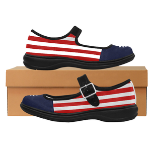 Betsy Ross Satin Mary Jane Flats