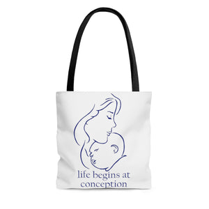 Conception Blue AOP Tote Bag