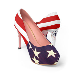 Fourth of July Women's Platform Heels