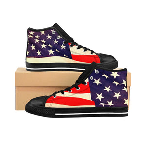 American Flag Men's High-top Sneakers (runs one size small, order one size up.)