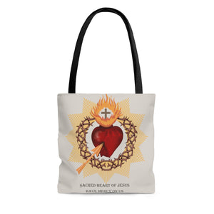 Sacred Heart AOP Tote Bag