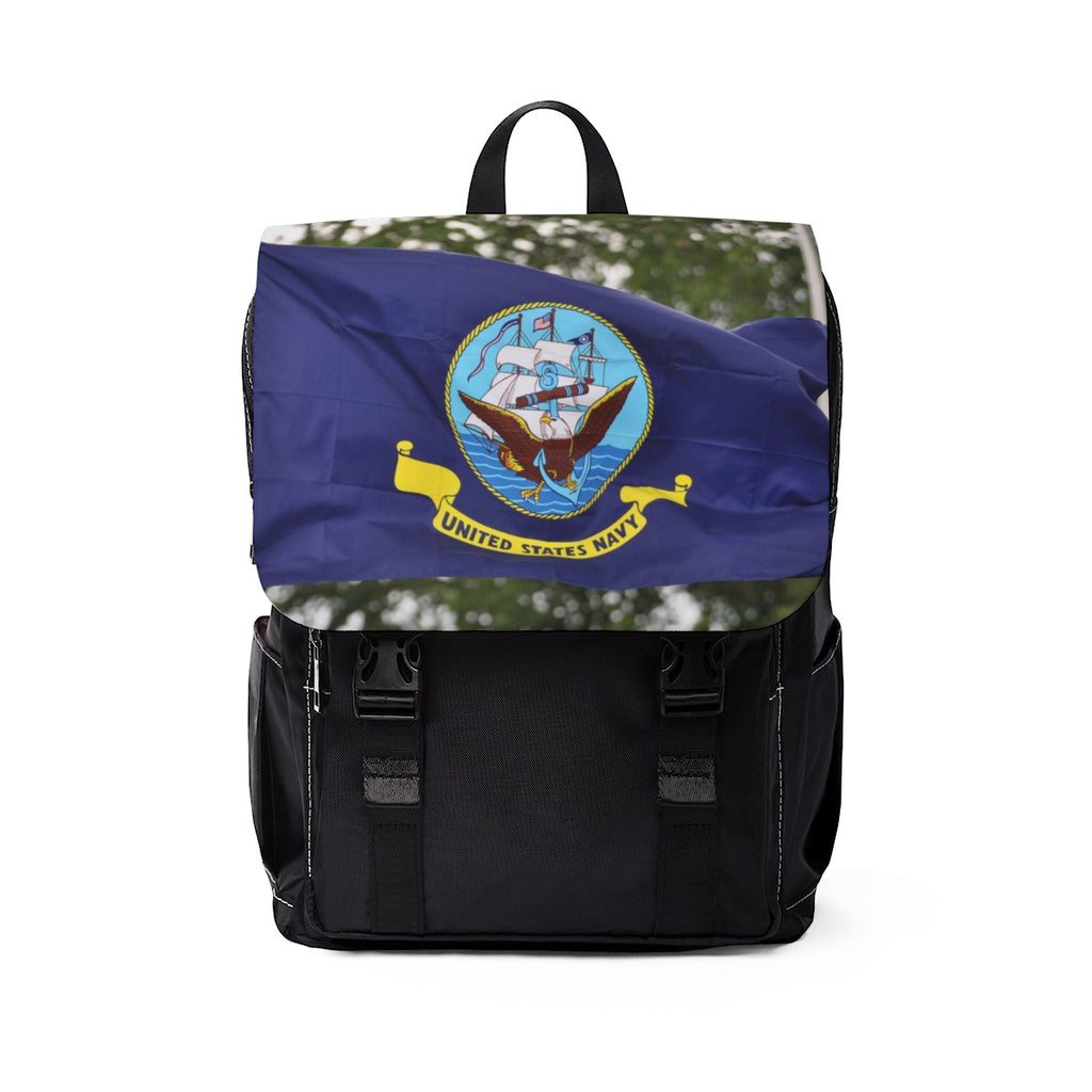 Navy Flag Backpack